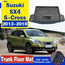 Для Suzuki новый SX4 S-Cross кроссовер 2013-2015 2016 2017 2018 задний багажник грузов коврик для багажника ЛОТОК ковер топливного бака защитная накладка