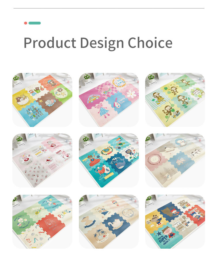 H9a6aaeb716494a50a533aec1b344b682Q BabyGo PE Foam Play Mat Baby Thickened Tasteless Crawling Pad Children Kids Living Room Cartoon Non-Slip Play Game Floor Mat