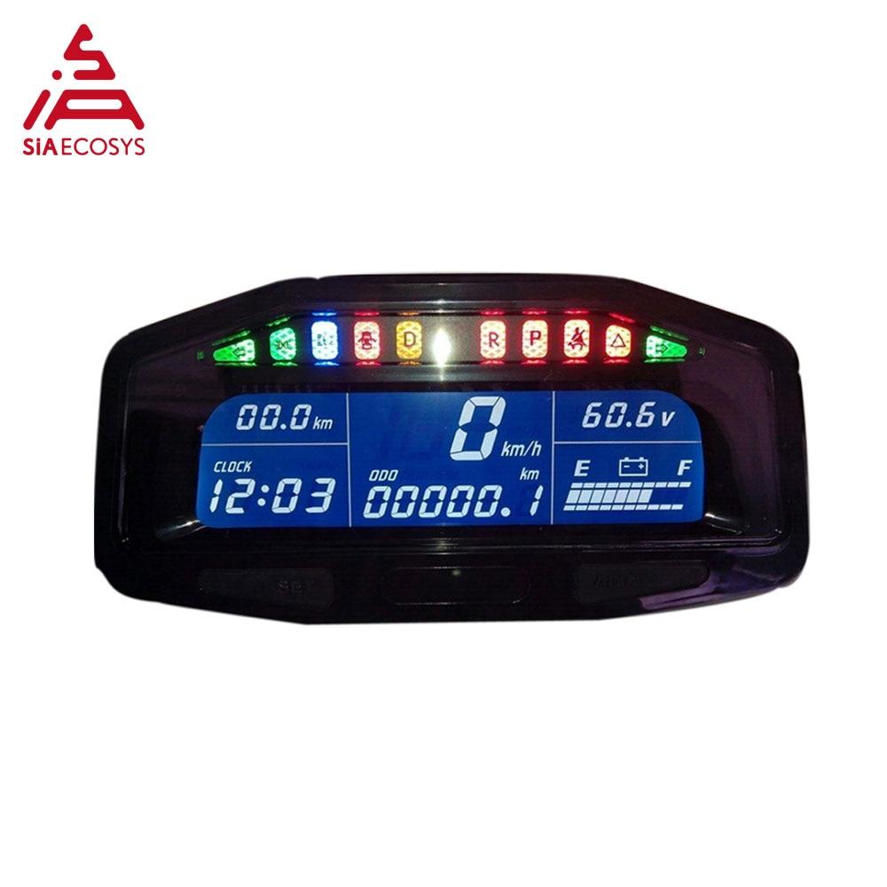 QS X8-E 48v-96v  E-car Speedometer Hall Sensor Type Universal Digital Programmable Electric Speedometer E-car Accessores