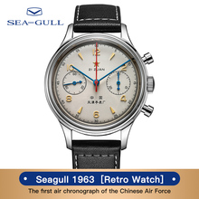 Seagullนาฬิกาผู้ชายSeagull 1963 Limited Editionอย่างเป็นทางการของแท้Air Force Aviation Chronograph Pilotนาฬิกา