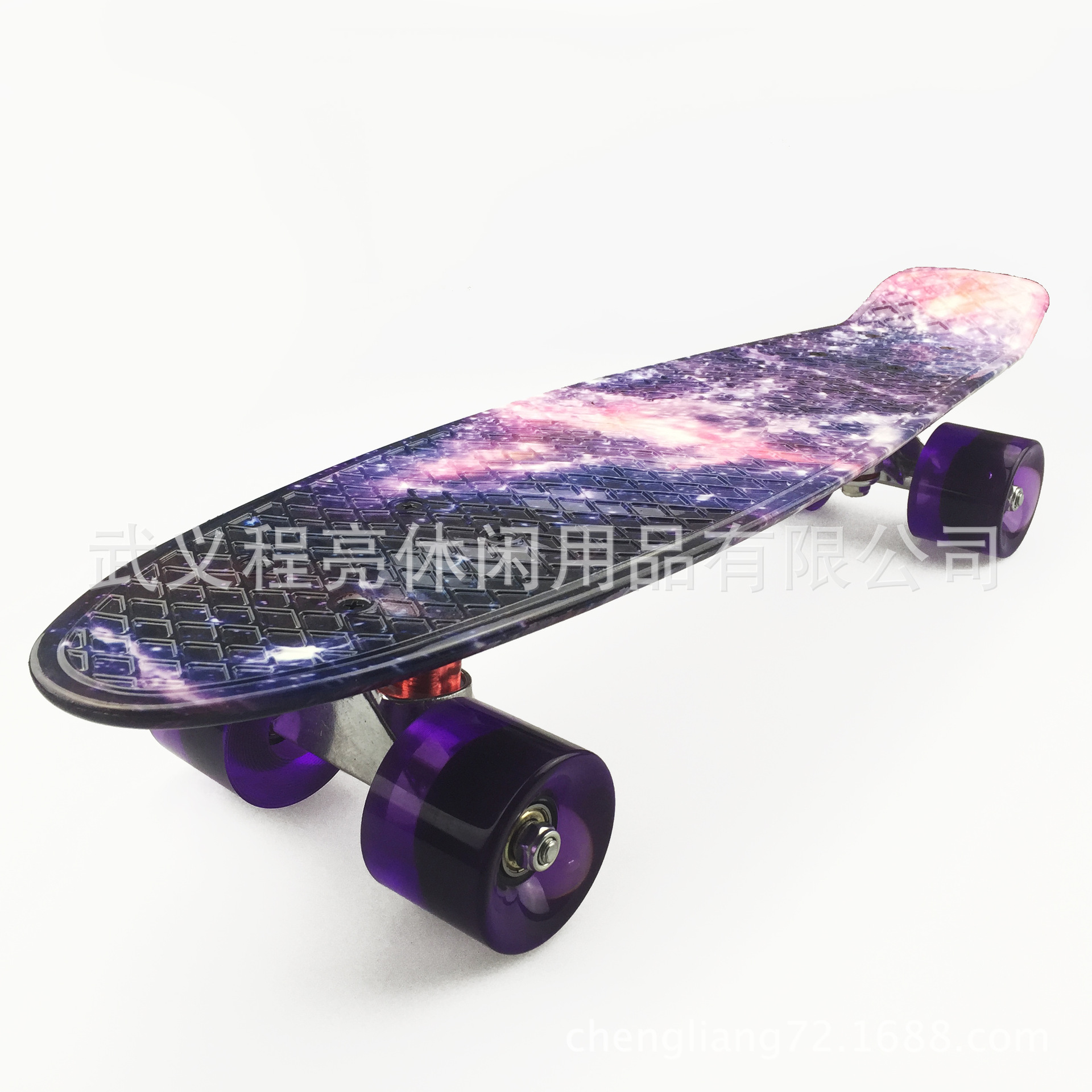 Foreign Trade Single Cut Skateboard PP Material Plastic Slide Plate 22-Inch Four Wheel Skateboard Fish Skateboard Adult Skateboa