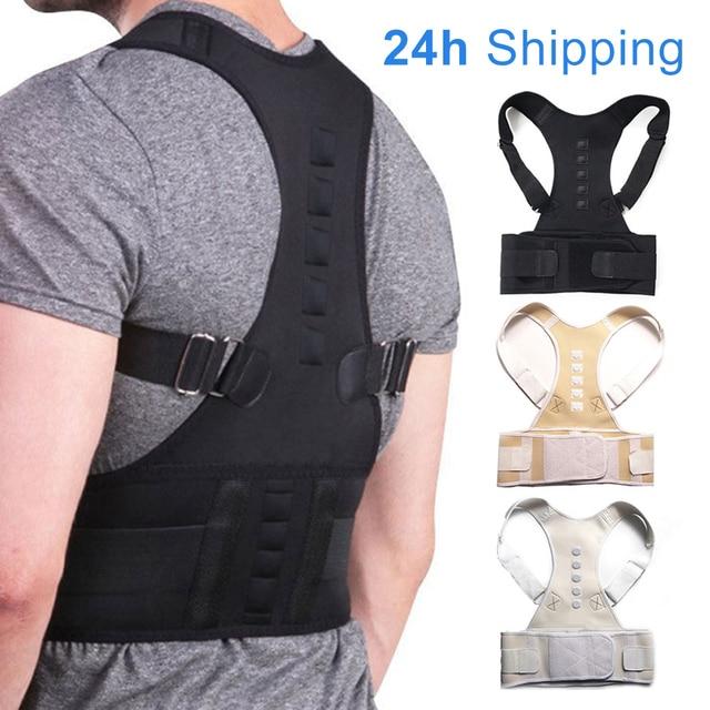 Adjustable Magnetic Posture Corrector Corset Back Brace Back Belt Lumbar Support Straight Corrector for Men Women S-XXL