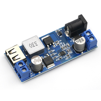 DC-DC 24V/12V To 5V 5A Step Down Power Supply Buck Converter Replace LM2596S Adjustable USB Step-down Charging Module For Phone dc dc 5a 4usb output step down buck converter 7 60v to 5v adjustable power supply module with case voltage transformer module