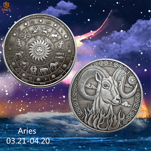 2019 Festival Astrology Souvenir Gift 12 Constellation Aries Bronze Home Decoration Accessories Coins Collectibles