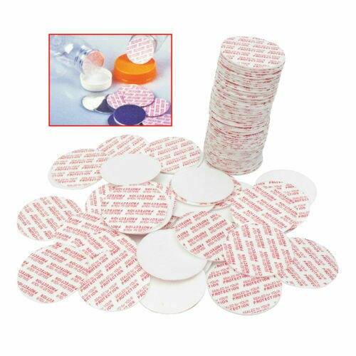 100 Pcs Self Adhesive Pressure Sensitive Press Seal Cap Liners Jar Bottle Foam Safety Tamper Sealers Sealing Piece Plate Gasket