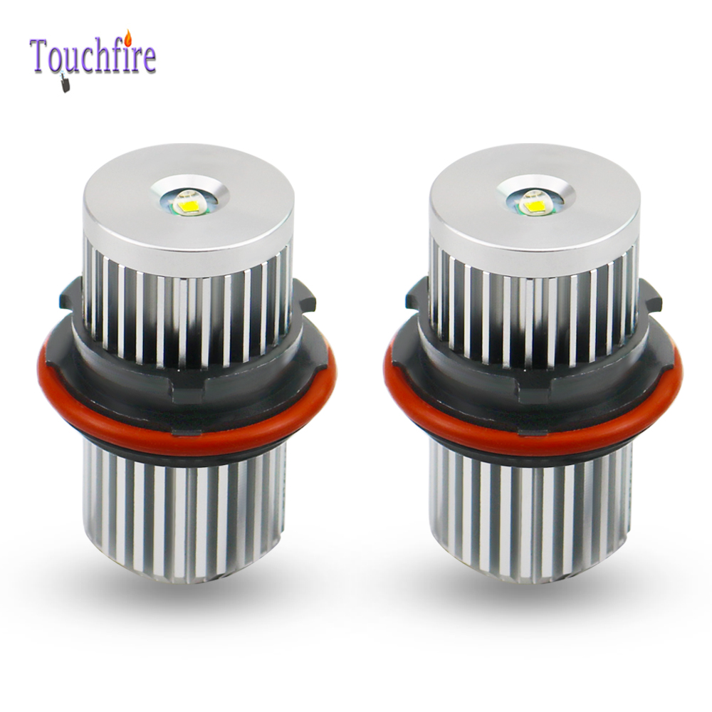 2pcs 12W <font><b>LED</b></font> CANBUS Angel Eyes light <font><b>Headlight</b></font> Lamp Blue white for <font><b>BMW</b></font> X5 E39 E53 <font><b>E60</b></font> E61 E63 E64 E65 E83 E66 Fog Light 6000K image