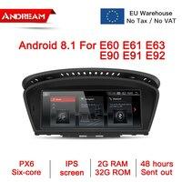8.8 Android 8.1 PX6 2G+32G IPS screen Car Multimedia IPS for BMW Series 5\3 E90 E91 E92 E60 E61 E62 gps navigation Head unit