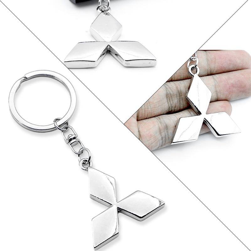 Металлические ленты автомобильный брелок для ключей от автомобиля брелок для ключей со значком для Мицубиси ASX Lancer Pajero Outlander L200 EVO Lancer EX Pajero э...