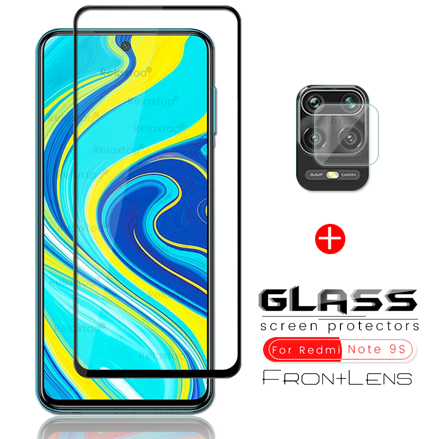 2-IN-1 Camera Glass+Screen Protector Tempered Glass For Xiaomi Redmi Note 9s Glass Protective Lens Film For Redmi Note 9 Pro Max