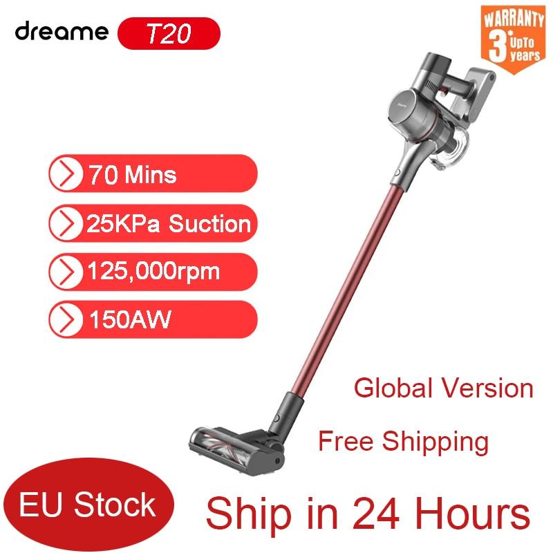 Dreame T20 aspirateur à main sans fil Intelligent sans fil dépoussiéreur 25kPa forte aspiration tapis aspirateur