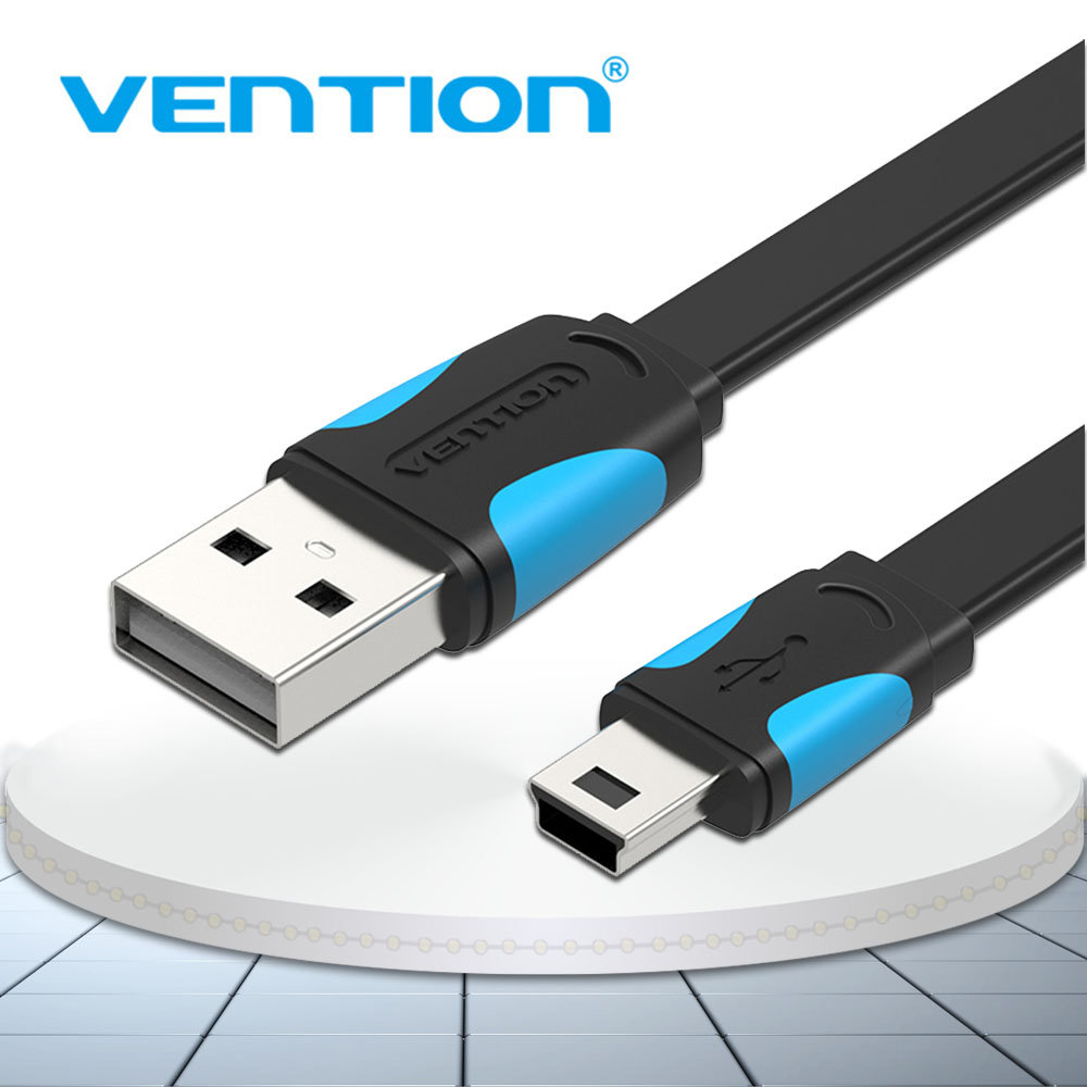 Vention Mini USB Cable Mini USB to USB Fast Charging Data Cable For Cellular Phone Digital Camera HDD MP3 MP4 Player Tablets GPS image