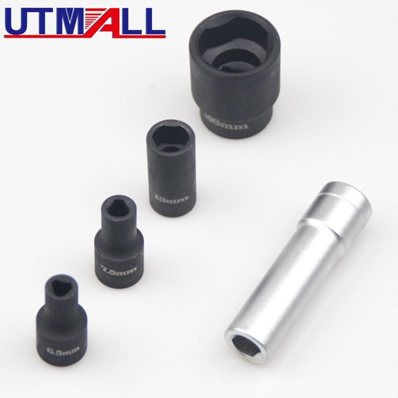 5pc Socket Set With Unique Profile For Bosch Diesel Injection Distributor Pumps For Volkswagen AUDI SKODA SEAT TDI
