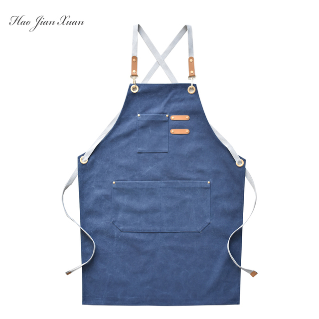 Unisex Canvas Kitchen Aprons For Home Chefs 4