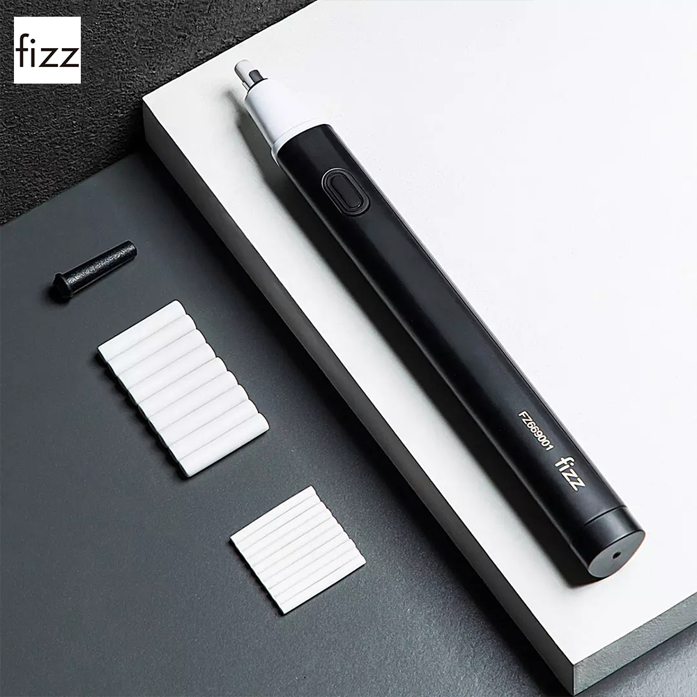 Fizz Electric Eraser Sketch Art Students Wipe Clean Automatic Eraser For School Office Supplies Rubber Pencil Eraser Refill
