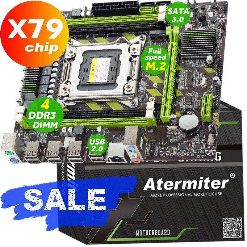 Atermiter X79 X79G carte mère LGA 2011 USB2.0 SATA3 prend en charge la mémoire REG ECC et le processeur Xeon E5 4DDR3