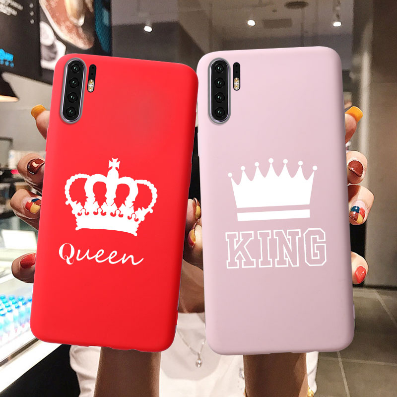 King Queen Soft TPU Silicone Case For <font><b>Huawei</b></font> P30 Pro P8 P9 P10 P20 Lite <font><b>2017</b></font> Y3 <font><b>2017</b></font> Y5 II Y6 2018 <font><b>Y7</b></font> Prime Y9 2019 Cases Covers image