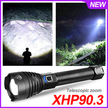 Hunting Super Bright Led Flashlight Rechargeable Usb 420000 Lumens Xhp90.3
