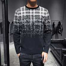 High Quality Self-cultivation Gradual Change Decorative Leisure Time Sweater Knitting Unlined Upper Garment Men Heren Sweater