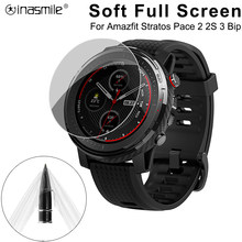 5 /3 /1 PCS Full Screen Protector Smart Watch For Xiaomi Huami Amazfit Stratos 2s 2 Pace Bip Band 2 Verge GTR 3 Soft Film Cover(China)