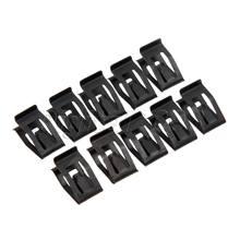 10 pçs preto carro console da frente traço painel guarnição de metal retentor automóvel rebite prendedor clipe para audi ford mazda toyota