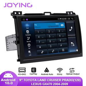 "Image 5 - 9 ""Android10 רכב רדיו עבור טויוטה לנד קרוזר פראדו 120/לקסוס GX470 2004 2009 GPS Carplay אנדרואיד אוטומטי DSP SPDIF סאב DAB"