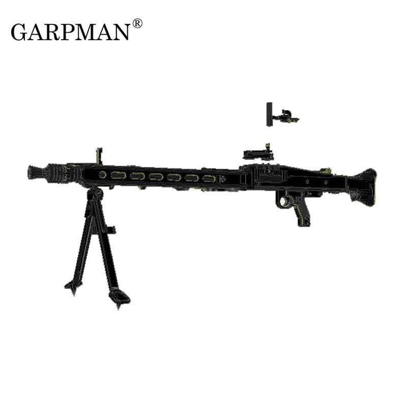1:1 MG42 Heavy Machine Gun World War II German General Machine Gun  Weapon 3D Paper Model