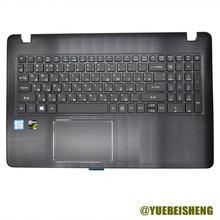 Yuebesheng novo para acer F5-573G F5-572G E5-573G 573 532g 557u V5-591 plamrest ru teclado russo com touchpad retroiluminado