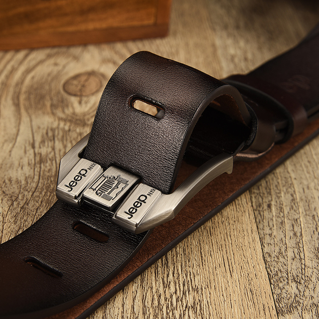 NO.ONEPAUL Genuine Leather For Men High Quality Black Buckle Jeans Belt Cowskin Casual Belts Business Belt Cowboy waistband 1
