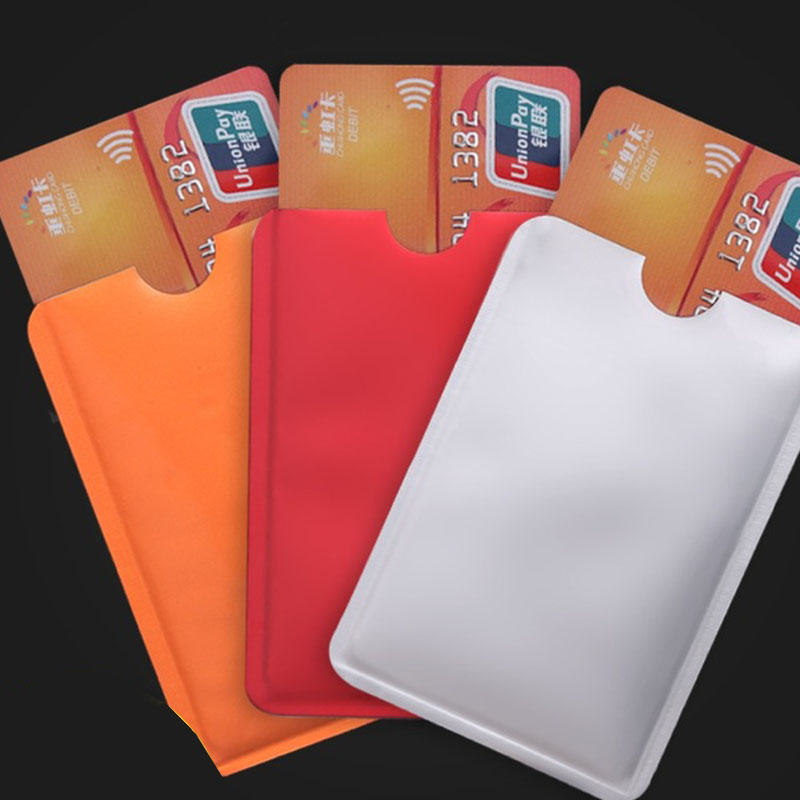 5 Pcs/lot Metal Anti Rfid Blocking Reader Card Cover Aluminum Foil Credit Card Holder Protection ID Bank Card Case Safty Pack