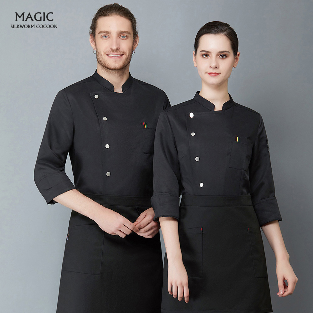 Chef Jacket Catering Cooking Chef Coats Food Service Long Sleeves Restaurant Uniforms Shirts Hotel Kitchen Working Chef Uniform