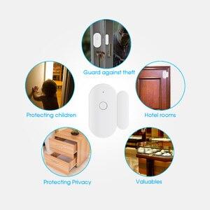 Image 3 - Towode 1/3/5Pcs WIFI Sensore Porta TUYA APP di Controllo di Sicurezza della Porta Finestra di Apertura del Sensore Magnetico Senza Fili compatibile con Alexa