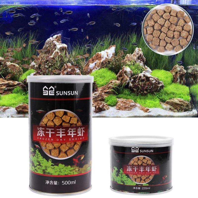220ml 500ml Aquarium Freeze Dried Shrimp Eggs Tropical Small Marine Fish Food Nutrition Betta Guppy Reptile