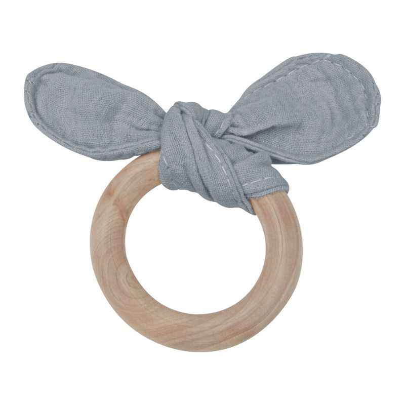 Baby Teether ทารกของเล่น Teething Baby ผลิตภัณฑ์ไม้แหวนไม้ Teether Teething แหวนกระต่ายหูพยาบาลการฝึกอบรม Teethers