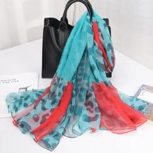 Diwish Sunscreen Scarf Faux Silk Shawl Leopard Fashion Dot Long Scarfs For Ladies Mixed Color Soft Beach Towel Seasons Kerchief цена