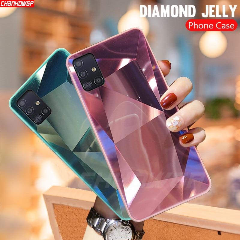 For Samsung Galaxy A51 Case 3D Diamond Prism Holographic Laser Phone Case For Samsung Galaxy A71 SM A515F A717F A 51 71 Cover