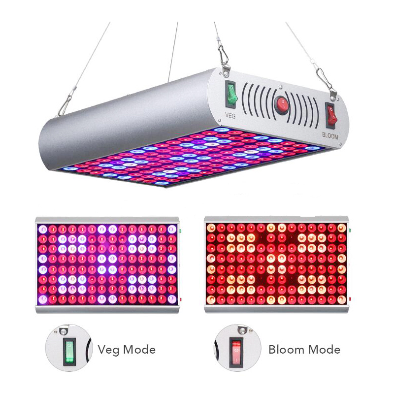 NEW 300W Full LED Grow Light Double Chip Double Switch Plant Growth Lamp For Indoor Flower Tent Seedling Phyto Lamp