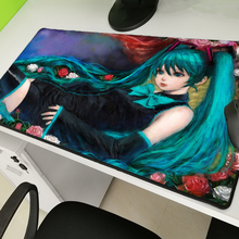 Yuzuoan Anime Hatsune Miku Lockedge Queen Game Mousepad Computer Player Rubber Non-slip Waterproof Keyboard Mouse Pad Large