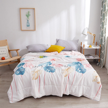 Machine Washable Summer Quilt Print Family Bedspread Blanket Comforter Bed Cover Quilting Simple Home Textile Bedclothes YB