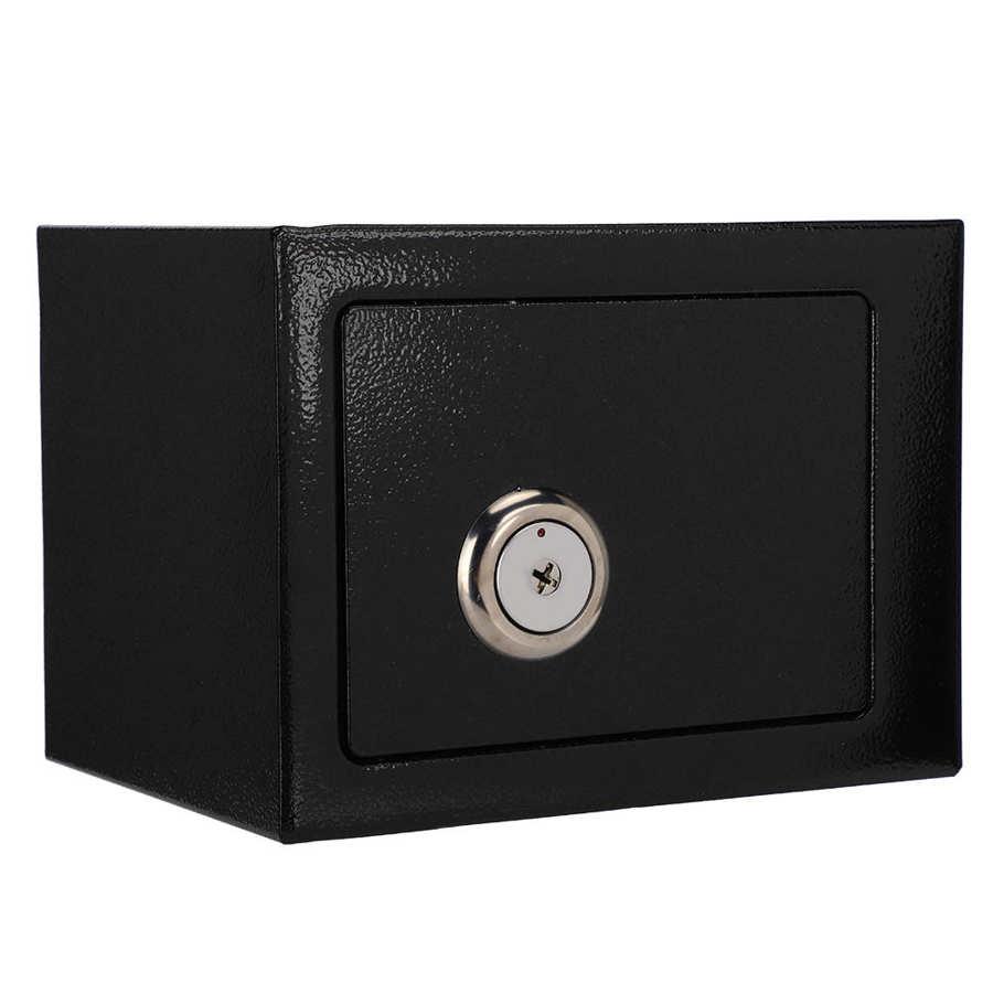 Сейф, прочный Надежный Стальной Сейф высокой безопасности, сейф для денег, банковских ключей, хранилище для наличных денег, домашний офисны...