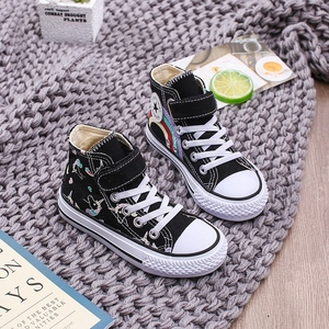 Image 5 - 2020 Girls Unicorn Boots Rainbow Vulcanized Canvas Toddler Boots Big Girls and Boys Sneakers Winter Ankle England Boots  25 38