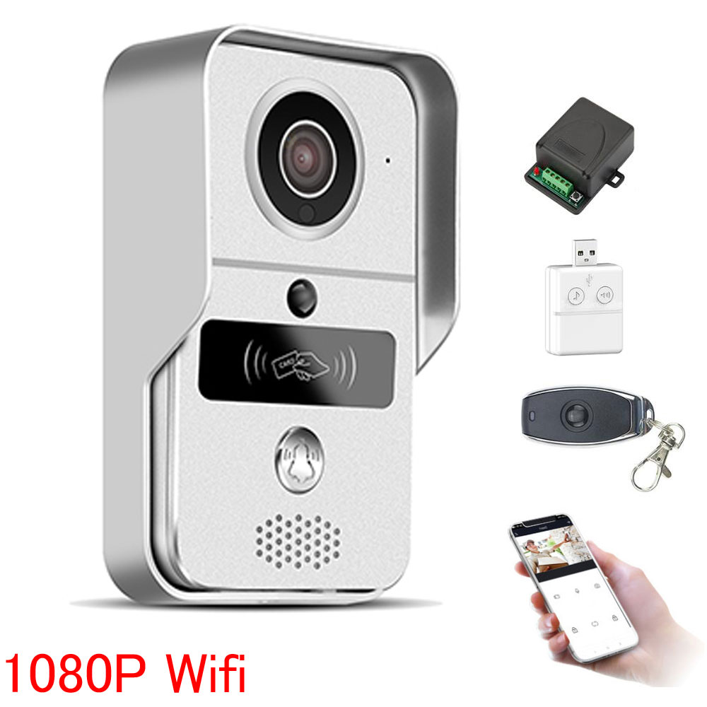 Wireless 1080P WiFi Video Doorbell Smart Phone Door Ring Intercom Security Camera Bell Support Remote Unlock