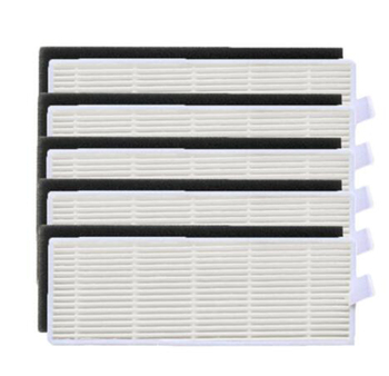 5x Hepa & 5x Sponge Hepa Filter Replacement Kits For Ilife A4 A4S A40 Robot Vacuum Cleaner Hepa Filter Spare Parts Accessories free shipping vacuum cleaner parts hepa filter replacement filter screen for philips robot fc8820 fc8810