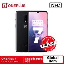 """ROM doxygène mondial Oneplus 7 Snapdragon 855 Octa Core Smartphone 6.41 """"AMOLED écran 48MP double caméra arrière 16MP téléphone portable NFC avant"""