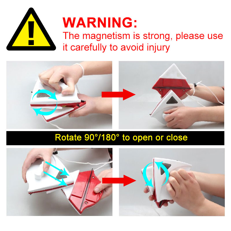 Image 5 - Magnetic Window Wiper Glass Cleaner Brush Tool Double Side Magnetic Brush Window Glass Brush for Washing Household Cleaning Tool-in Cleaning Brushes from Home & Garden