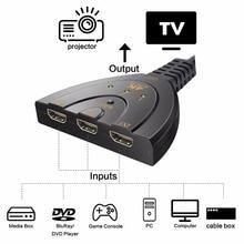 4K Mini 3 Port HDMI Switch 3x1 HDMI Switcher 1080P 3 in 1 out HDMI Splitter Port  for DVD HDTV Xbox