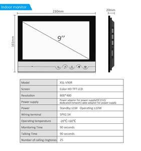 Image 3 - 9 дюймовый домашний видеодомофон, комплект домофона с колокольчиком, домашняя семейная камера с индуктивной картой для двери с монитором 2/3, система внутренней связи