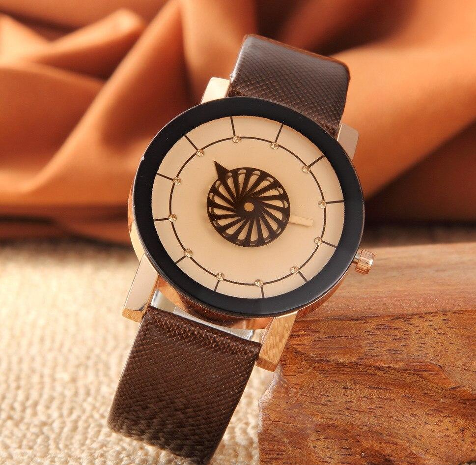 Spiral Design Watches Women And Men Leather Band Wrist Watch Delicate Fashion Quartz Watch Man Ladies Love Watches Parejas