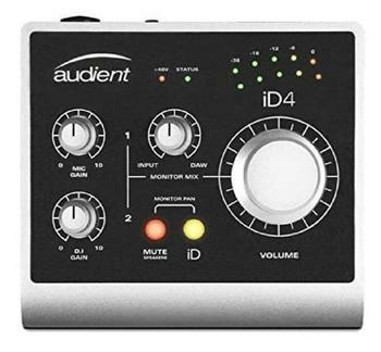 Audient id4 interface de áudio usb de alto desempenho