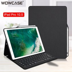 Para iPad Air 3, iPad Pro 10.5 funda Bluethooh teclado Smart Keyboard Folio cubierta lápiz titular casos para iPad Pro 10.5/iPad air 10.5 2019 cubierta funda con teclado para ipad 2018 iPad Air3 iPad Pro10.5 Funda