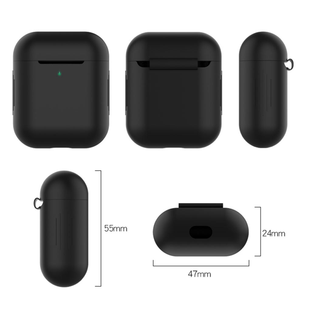 Silicone Case for Apple 1 & 2 Protector Cover Earphone Shell